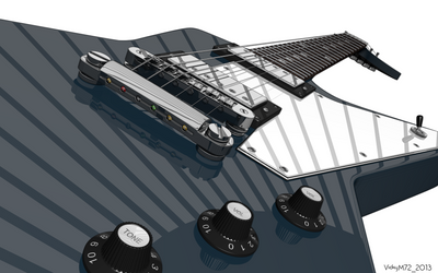 Gibson Explorer - Stylized by VickyM72