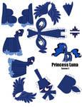 Princess Luna Papercraft Template (pg 1)
