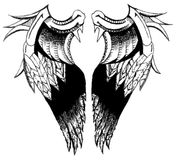angel wings tattoo design by nino666 on deviantart. Black Bedroom Furniture Sets. Home Design Ideas