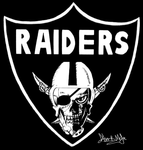 Oakland Raiders Skull Logo by Nino666