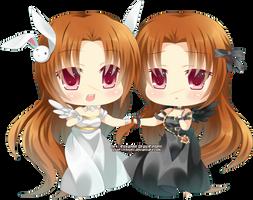 Chibi - Avino and Ava by Roborin