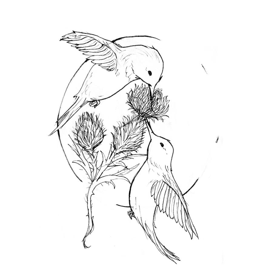 Hummingbirds - Contest Entry | Flower Tattoo