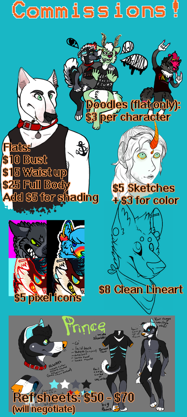 Commission Price Sheet by PyroWolfDemon