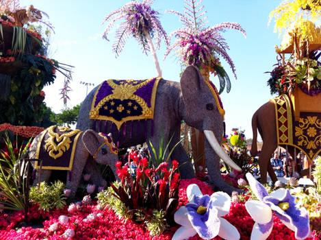 elephants - pasadena rose parade