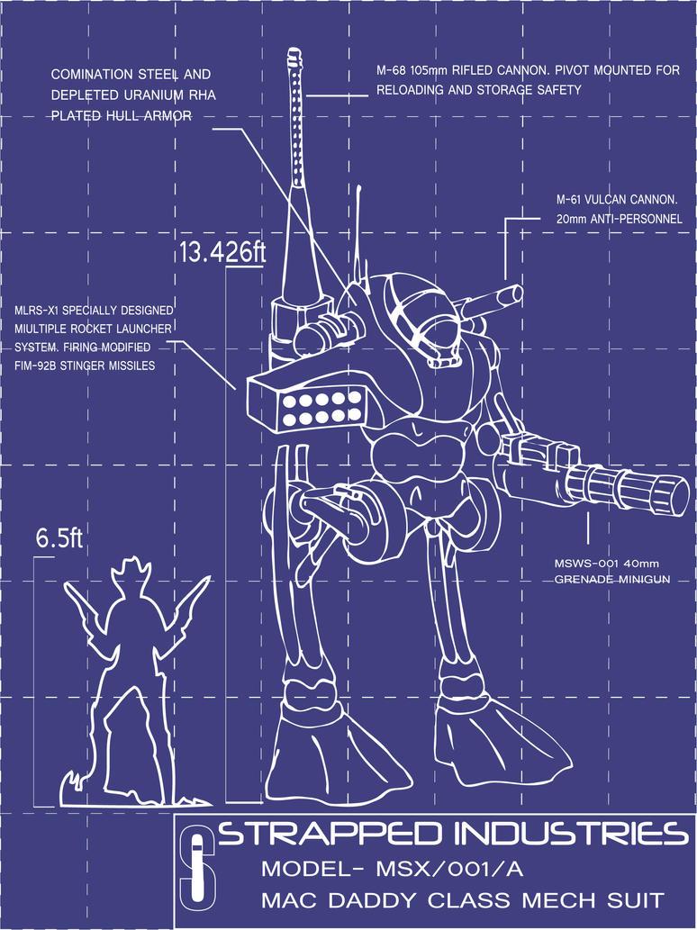 Iron Man Armor Blueprints Mac Daddy Mech Armor by