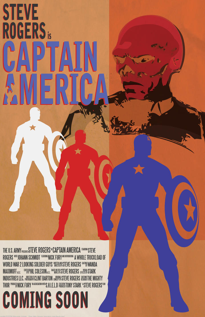 Captain America Poster by StrappedComics