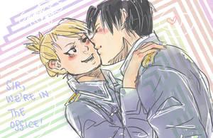 Sneak a Kiss - Royai by Equestrian-Equine