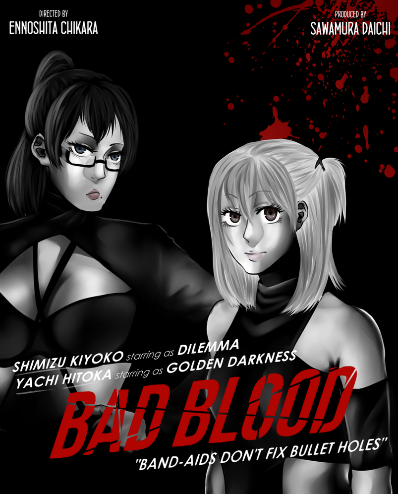 Bad Blood - Shimizu Kiyoko and Yachi Hitoka by Equestrian-Equine