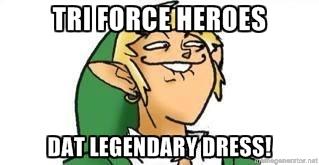 Tri Force Heroes meme by Hylian