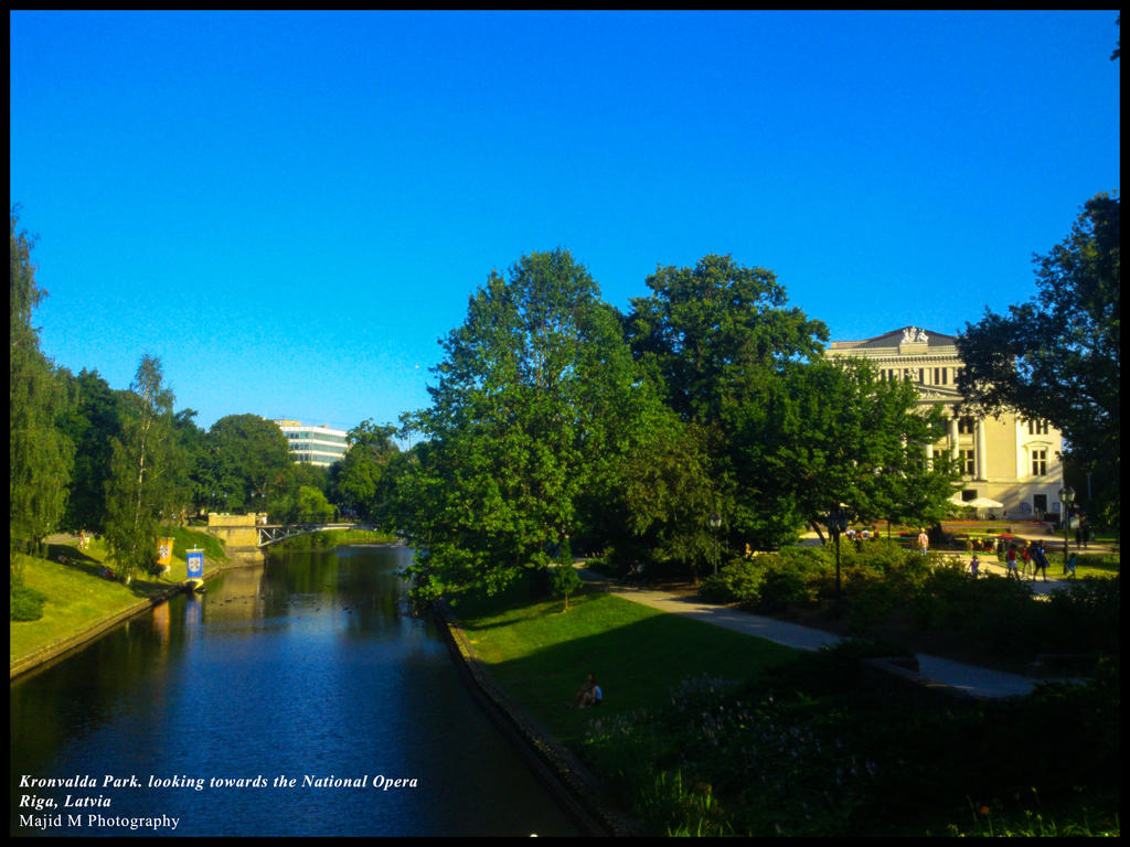 Kronvalda Park. looking towards the National Opera by meanart