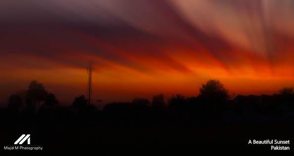 A beautiful Sunset by meanart