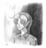 Link and Navi in Pencil by mrc