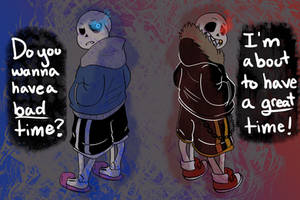 UNDERTALE VS. UNDERFELL by The-NoiseMaker