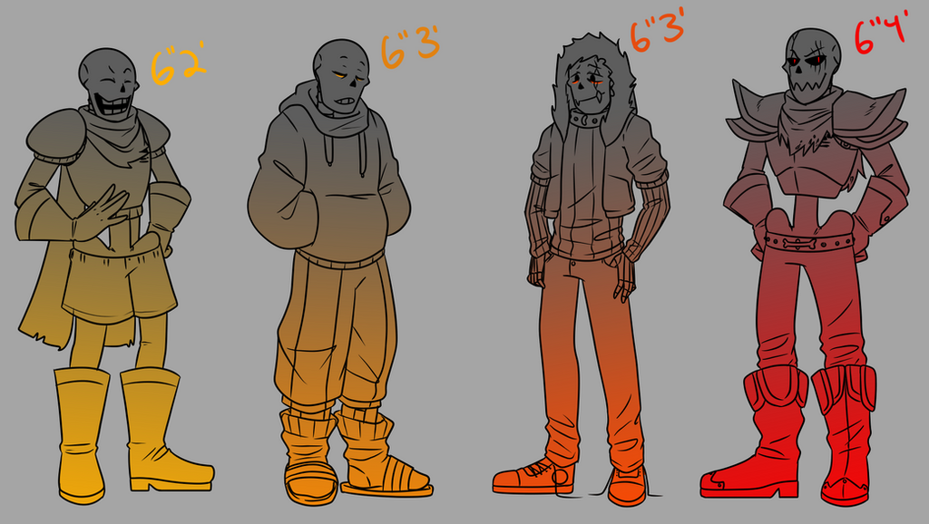 Height Chart - Papyruses by The-NoiseMaker
