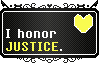 Undertale || Human Soul Stamp JUSTICE || F2U by The-NoiseMaker