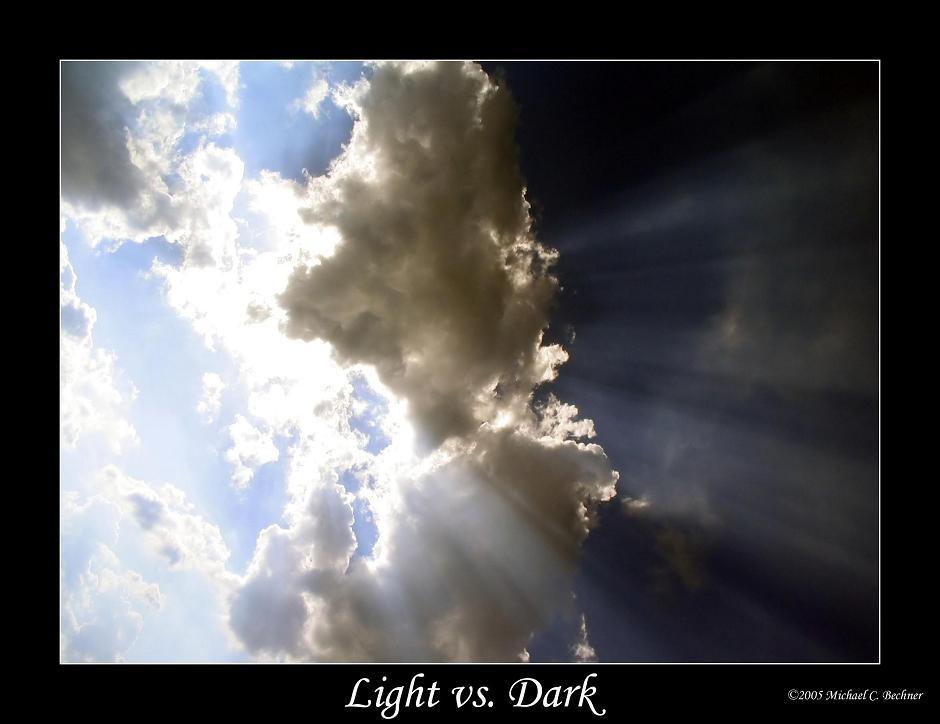 Light Vs Dark By Environaut