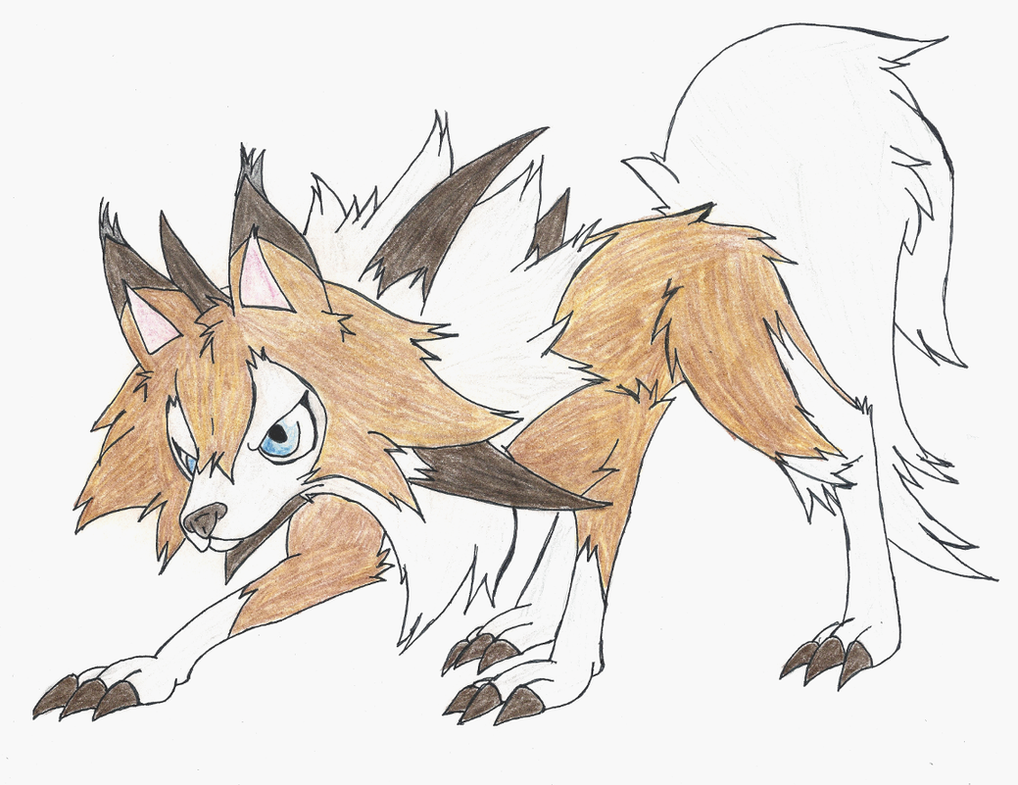 Pokemon: Lycanroc Midday form by aa5tidus on DeviantArt