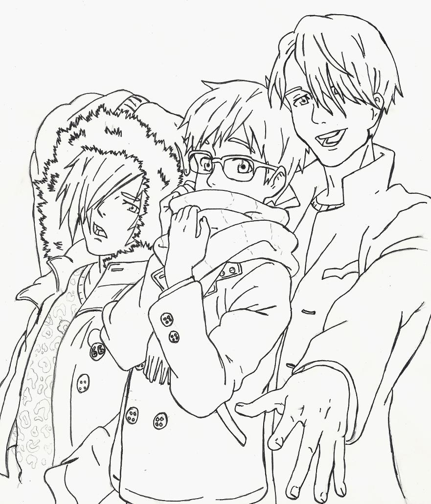 Anime Yuri Coloring Page
