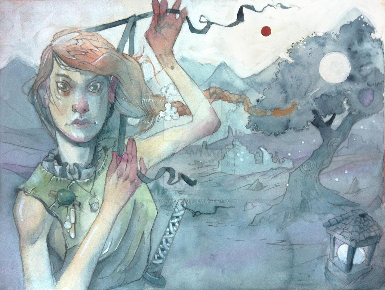 Lyri watercolour by clockwerkjos