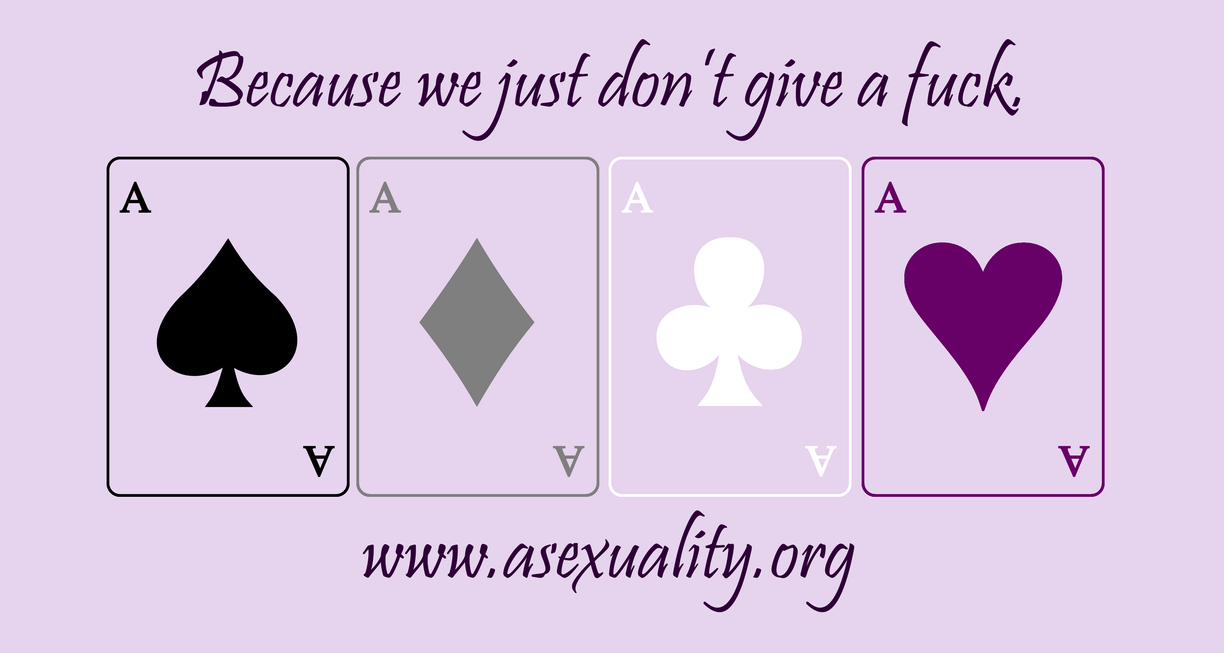 Asexuality - Because we just don't give a fuck. by Falunel
