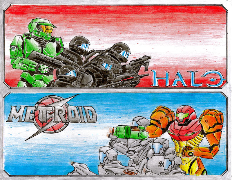 Halo vs. Metroid by GuiMontag