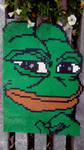 Perler Pepe the frog