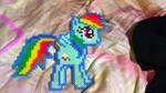 Perler Rainbow Dash by Freakshowbeasts