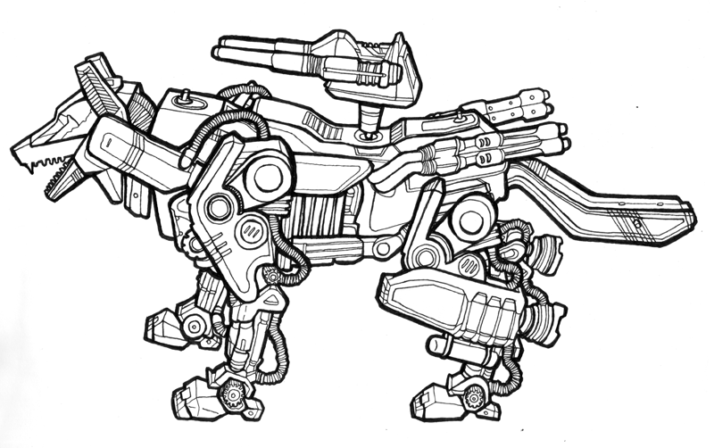 Liger Coloring Pages