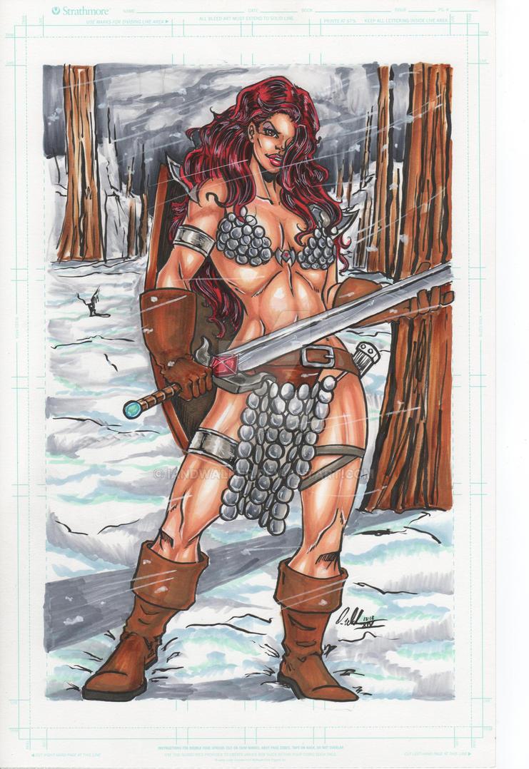 Red Sonja by IanDWalker