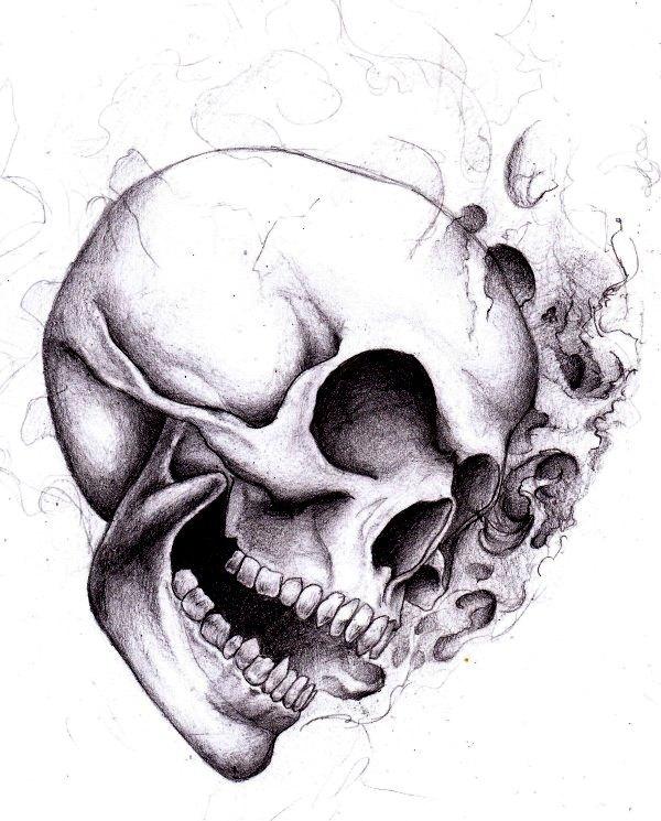 skull by SCHIATTAMUORT