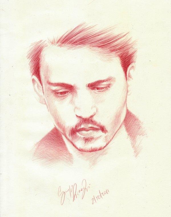 johnny Depp ...copy by SCHIATTAMUORT