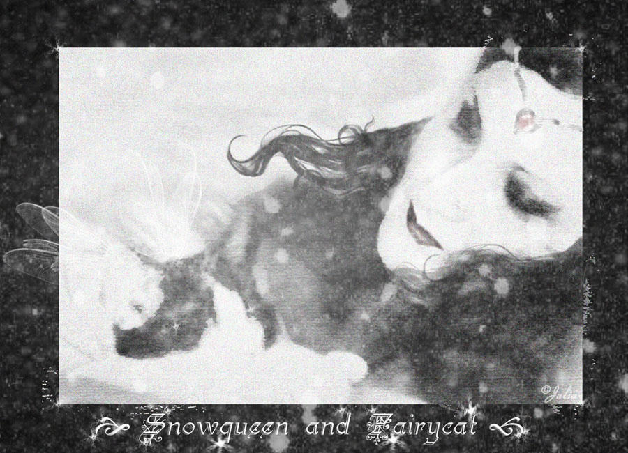 Snowqueen and Fairycat by Thasitalia