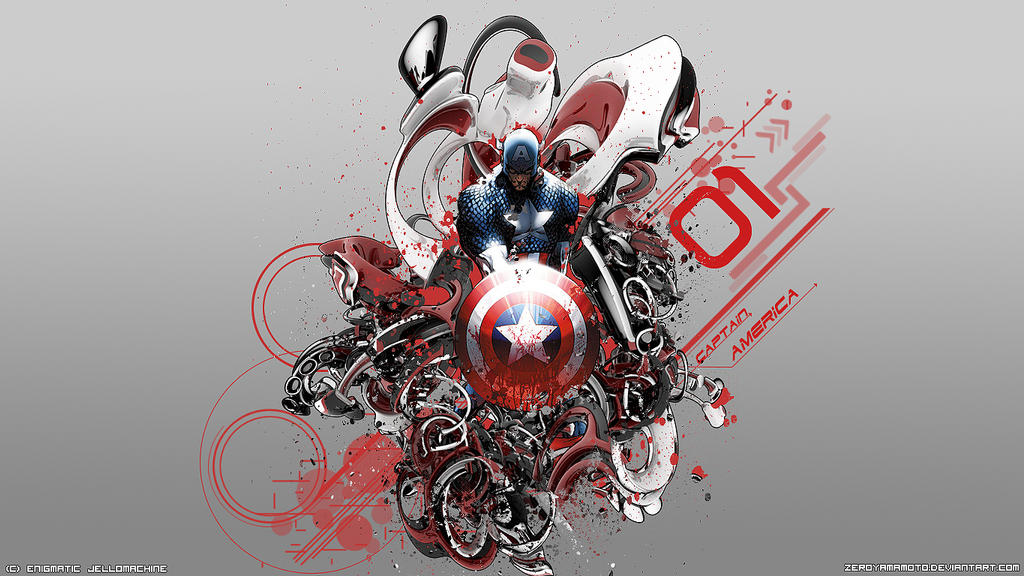 Captain America Desktop Background By ZeroYamamoto ...