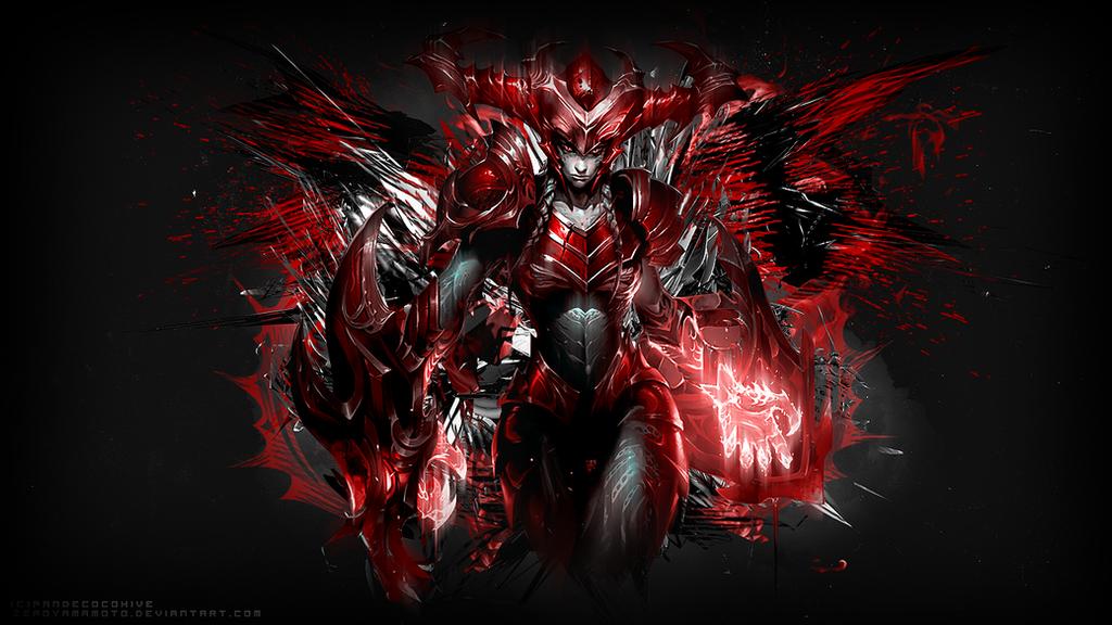 The Half Dragon (red) by ZeroYamamoto on DeviantArt