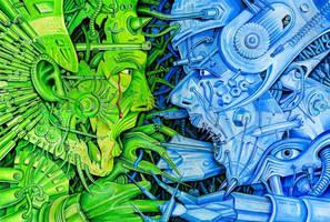 Man robot against Robot man by Birni4