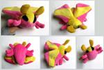 Rosy Maple Moth Plush (Dryocampa rubicunda) Mk. 2