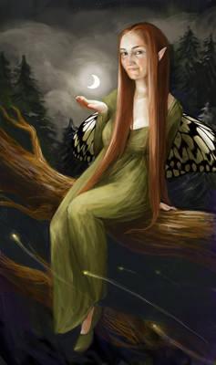 Sarah-Moth and the Moon