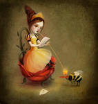 Queen Bee Reads a Love Letter