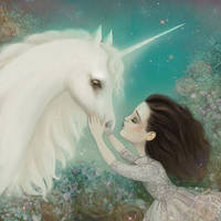 Unicorn Kiss by meluseena