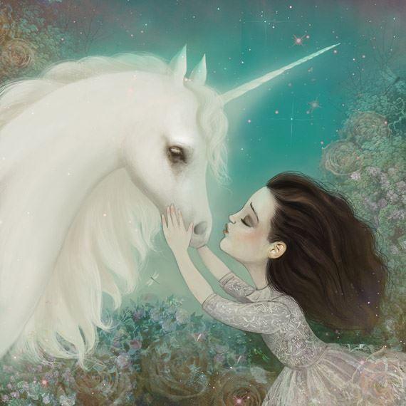 Unicorn Kiss by meluseena