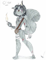Oliver: The black tomboy squirrel (The Nut Job OC) by Melody-Chan3493