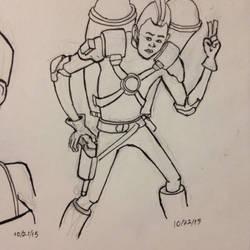 Inktober spaceman by budamonsta