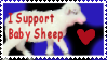 baby sheep: in a stamp???? by yay4miroku