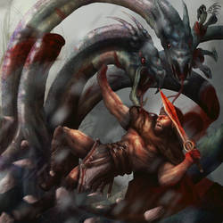 Hercules Vs The Hydra by crowley0