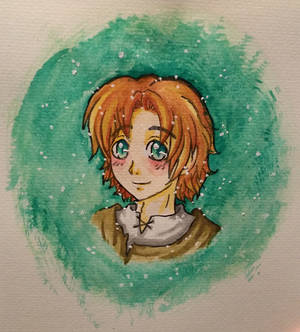 Kahuno as a child ~ Waterpainting Doodle