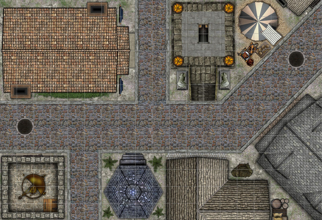 Fantasy City Streets With Grid By Jcarlhenderson On