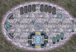 Grey Alien Underground Base (with Grid)