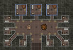 Prison Cellbock With Warded Cells (with Grid)