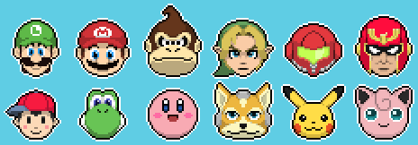 Smash Brothers by Pixelsparkz