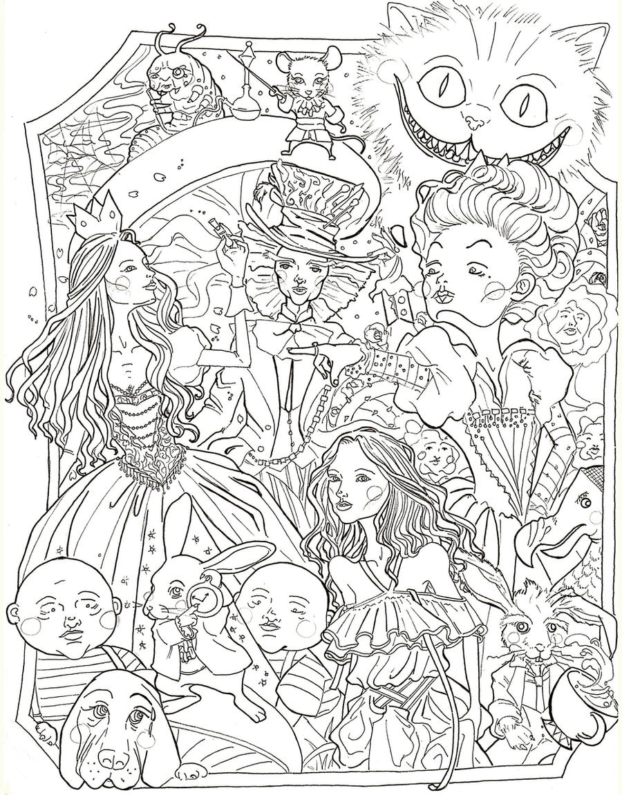 Coloring Pages Alice In Wonderland 2010PagesPrintable Coloring